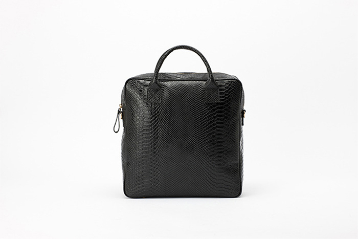 3way leather backpack  [black anaconda]