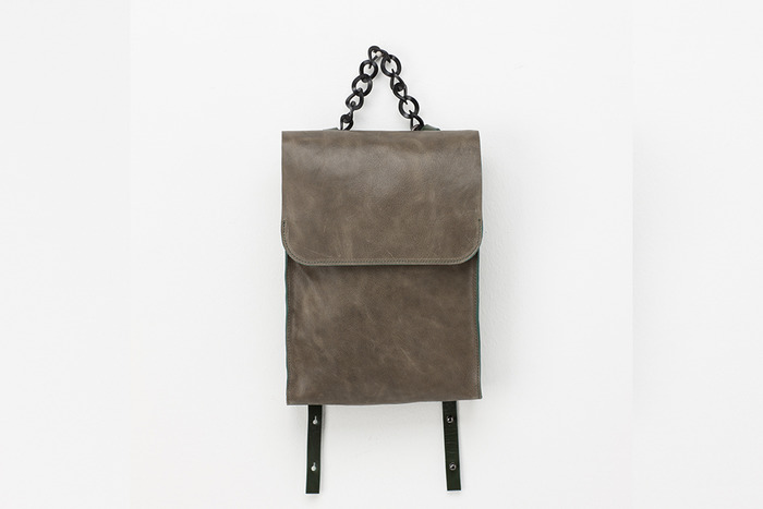 Lambskin Transform backpack [vintage green]